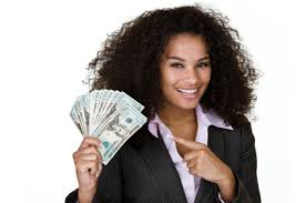 lady with money